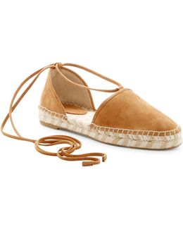 Leo Ankle Wrap Espadrille Flat