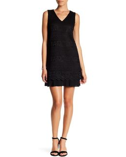 Isabella Sleeveless Lace Knit Dress (petite)