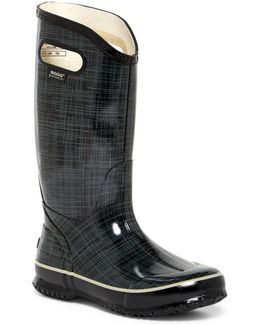 Waterproof Linen Printed Rain Boot