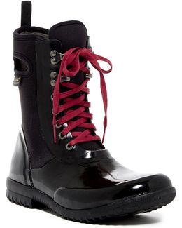 Sidney Solid Waterproof Lace-up Boot