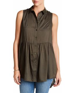 Summer Slub Sleeveless Blouse