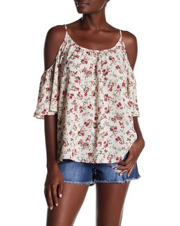 Polly Plains Cold Shoulder Blouse