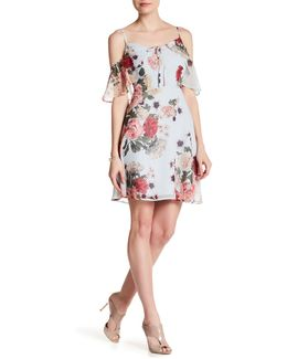 Olivia Cold Shoulder Floral Dress