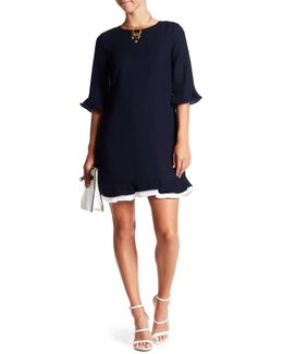 Kate 3/4 Ruffle Sleeve Dress