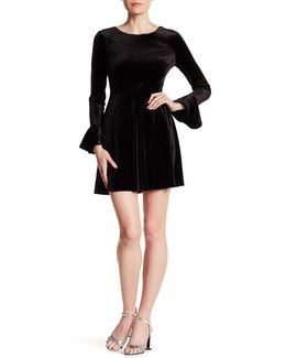 Jayden Bell Sleeve Velvet Dress