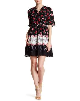 Elise Tie Neck Floral Dress