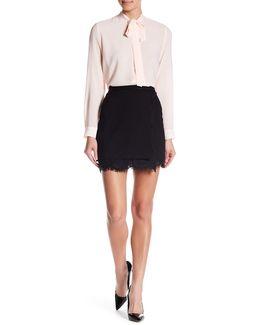 Lula Lace Trim Faux Wrap Skirt