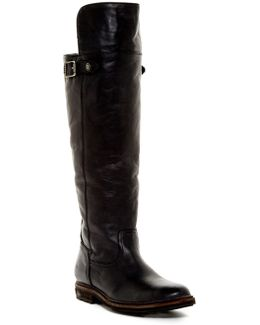 Mara Button Genuine Shearling Boot