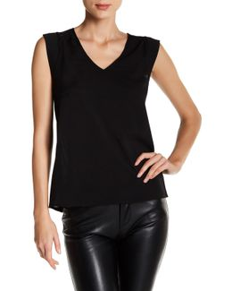 Polly Plains Cap Sleeve V-neck Tee