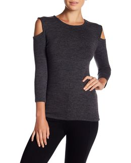 Cold Shoulder Sweater Top