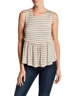 Stripe Peplum Swing Tank