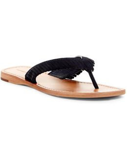 Perry Fringe Thong Sandal
