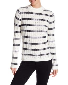 Colorblock Rib Knit Sweater