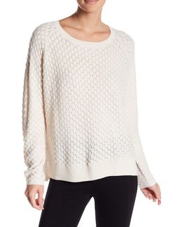 Ella Popcorn Knit Wool Blend Sweater
