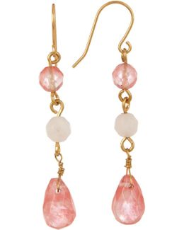 Triple Bead Drop Earrings