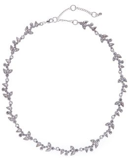 Crystal Accented Ivy Necklace