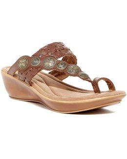 Marcia Loop Toe Wedge Sandal