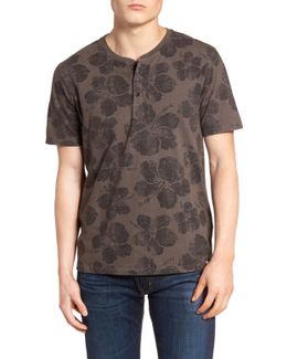 Floral Print Henley T-shirt