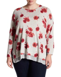 Floral Print Pullover (plus Size)
