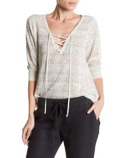 Lily Linen-blend Lace Pullover