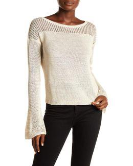 Bell Sleeve Pullover Linen Sweater