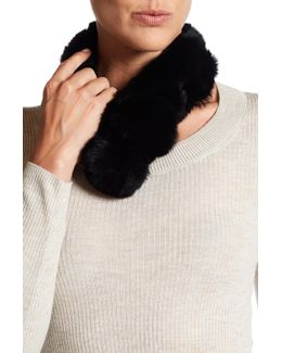 Genuine Rex Rabbit Fur Pompom Collar