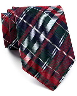 Red & Green Group Plaid Silk Tie