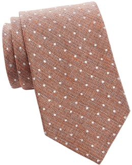 Village Dot Silk Tie