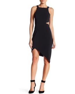 Side Cutout Asymmetrical Dress
