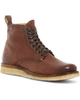 Phillip Crepe Lace-up Boot
