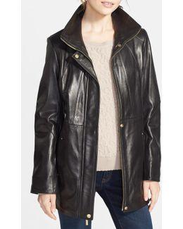 Genuine Lambskin Leather Anorak