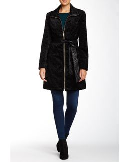 Belted Faux Fur Persian Jacket