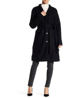 Wool Blend Robe Coat