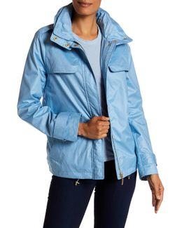 Chintz Golf Jacket With Stowaway Hood