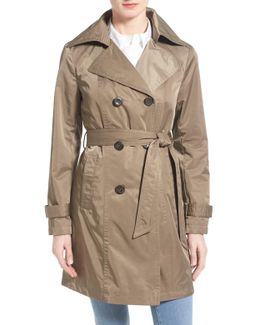 Techno Double Breasted Trench Coat