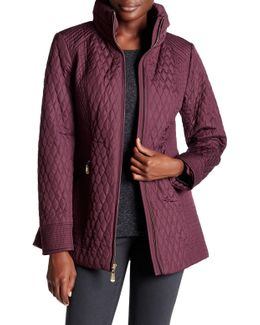 Quilted Mock Neck Jacket