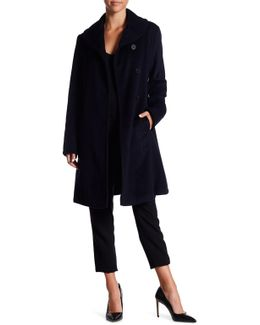 Front Button Wool Blend Coat