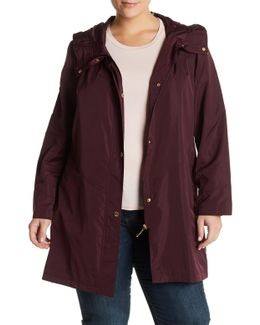 Iridescent Packable Raincoat (plus Size)