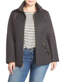 Zip Front Quilted Jacket