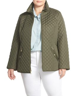 Zip-Front Quilted Jacket