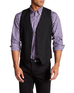 Black Five Button Extra Trim Waistcoat