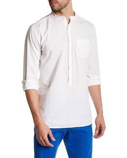 Long Trim Fit Button Up Shirt