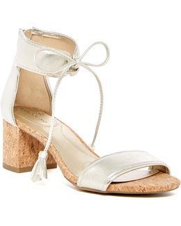 Semise Metallic Ankle Tie Sandal