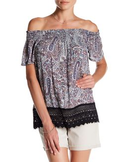 Rebecca Off-the-shoulder Print Blouse