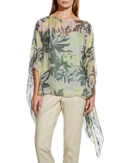 Wildflower Blooms Sheer Poncho