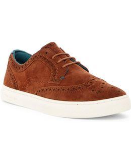 Rachet Wingtip Suede Sneaker