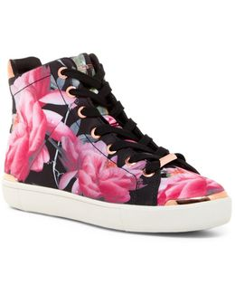 Floral Hitop Trainer