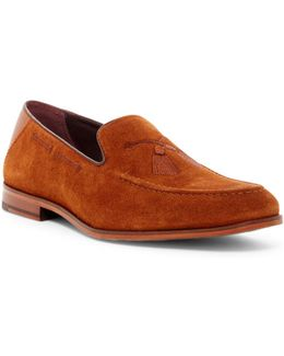 Cannan Suede Tassel Embroidered Loafer