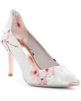 Vyixin Floral Pointed Toe Pump