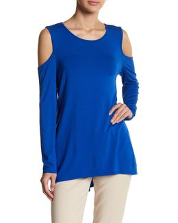 Long Sleeve Cold Shoulder Pullover